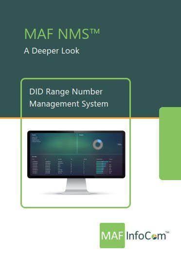MAF NMS DID range number management system - deeper lock