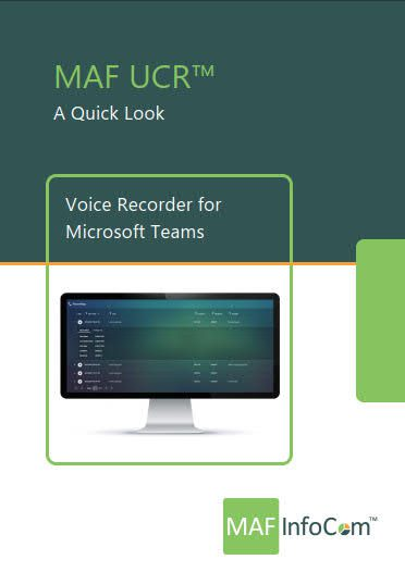 MAF UCR - Voice recorder for Microsoft teams